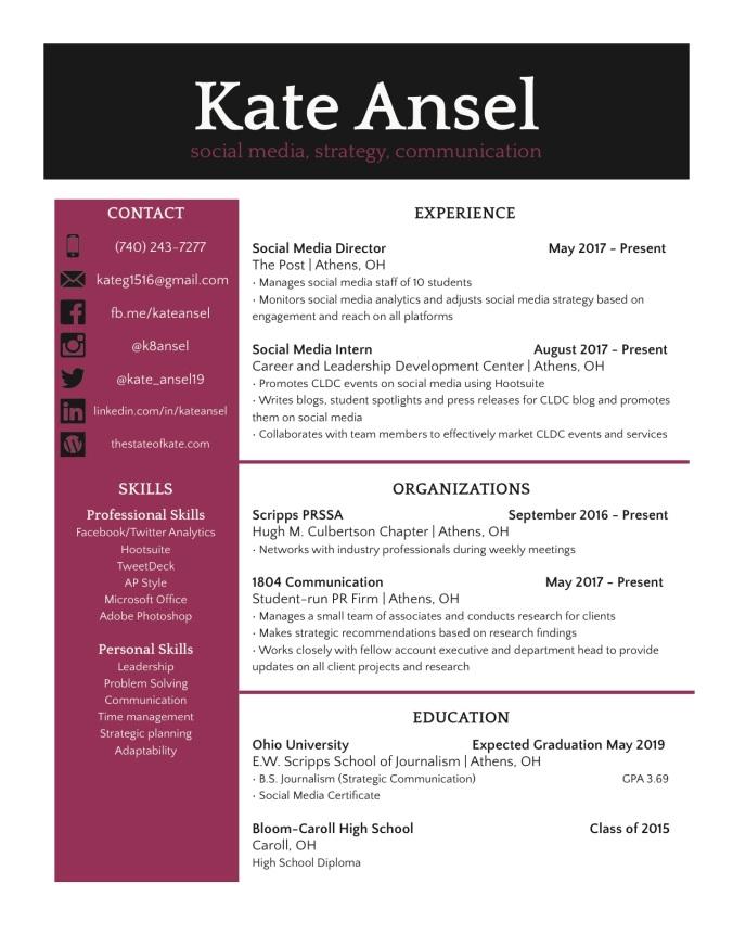 Kate Ansel Resume